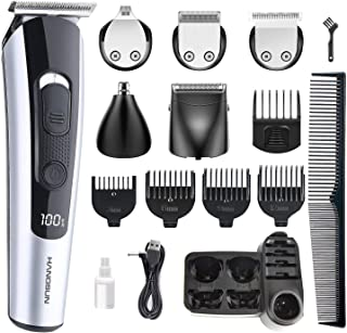 Hangsun Beard Trimmer Hair Clippers for Men Cordless Grooming Kit HC550 for Mustache, Head, Body, Face and Nose Hair USB R...