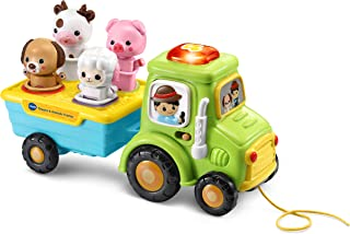 VTech Shapes and Animals Tractor, Educational Pull Along Toy for Kids, Baby Musical Toy for Sensory Play, Shape Sorter Toy...
