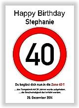Suchergebnis auf Amazon.de für: 40 Geburtstag Schild Zum ...