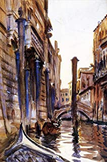 28 Famous Venetian Paintings - AED200-4000 Hand Painted by Academic Artists - Side Canal in John Singer Sargent Venice - A...