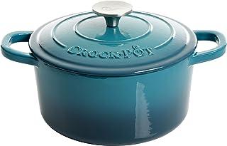 Crock-Pot Artisan Round Enameled Cast Iron Dutch Oven, 3-Quart, Gradient Teal