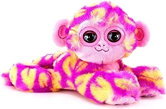 Bandai CE80083 Nuzzy Luvs Snuggler Interactive Pet Soft Toy (Pink and Orange Monkey)
