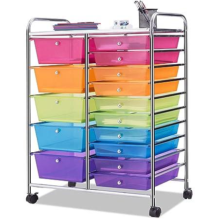 Home Office BestComfort Utility Cart for School Beauty Salon Multi-Use Storage Organizer Cart 4 Drawer Rolling Storage Cart and Organizer
