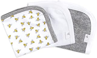 Burt's Bees Baby - Washcloths, Absorbent Knit Terry, Super Soft 100% Organic Cotton (Honey Bee Cloud, 3-Pack)