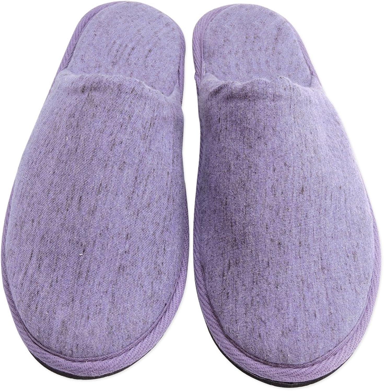 Ancient Impex - Unisex Cotton Cloth Indoor Slippers Purple