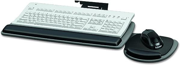 Fellowes 93841 Adjustable Standard Keyboard Platform, 20-1/4w x 11-1/8d, Graphite/Black