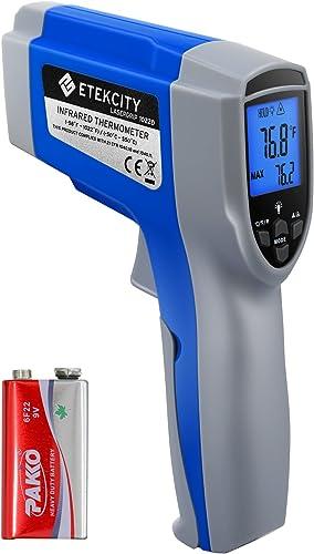 Etekcity 1022d Dual Termómetro infrarrojo digital láser Temperatura Pistola Sin contacto -58℉ ~ 1022℉ (-50℃ ~ 550...