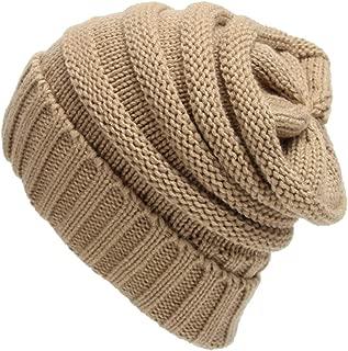 Legou Women's Warm Soft Cable Knit Slouchy Beanie