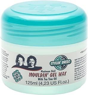 Stylin' Dredz Hair Styling Moulding Gel Wax -Tea Tree Pomade for Dreadlocks 125 ml Single