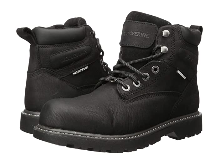 Wolverine  Floorhand Steel Toe Puncture Resistant 6 Boot (Black) Mens Work Lace-up Boots