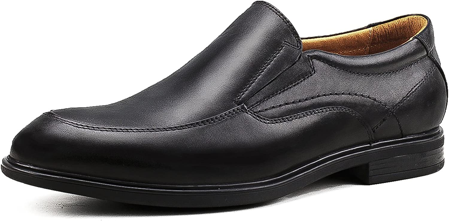 Ausland Men's Apron Toe Slip-on Loafers