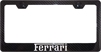 Ferrari Carbon Fiber License Plate Frame