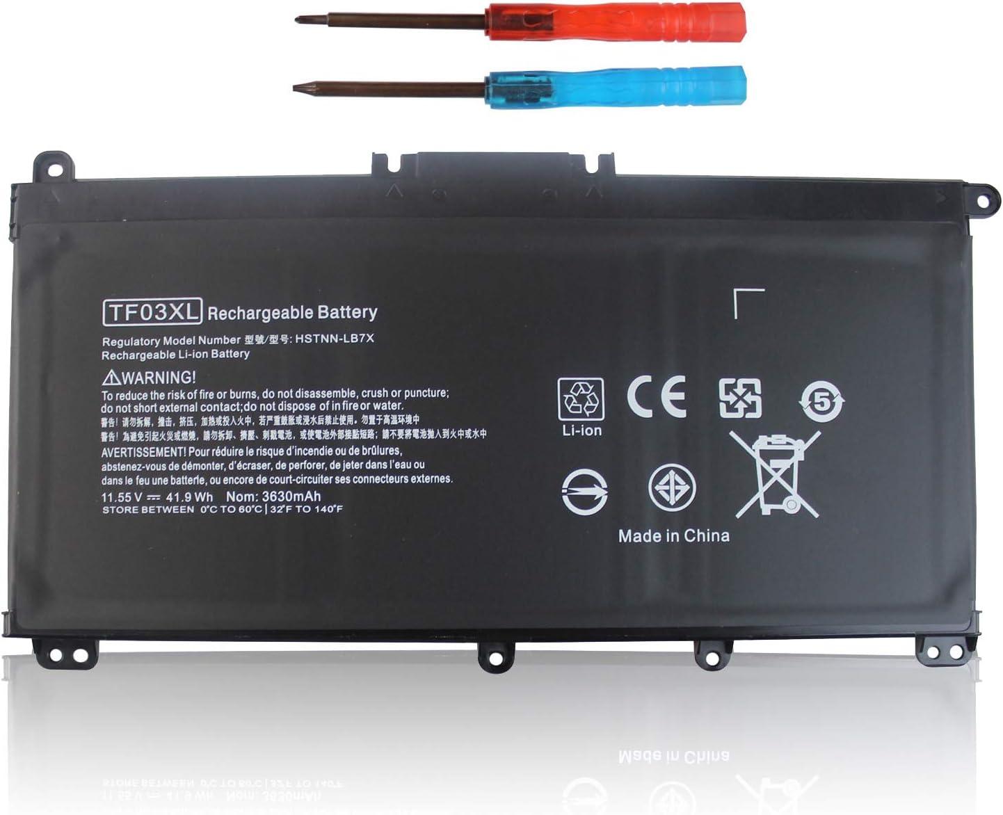TF03XL 920070-855 920046-421 Laptop Battery for HP Pavilion 15 17 14 15-CC023CL 15-CC123CL 15-CC050WM 15-CC563ST 17-AR050WM 15-CC 15-CD 14-BF 920046-421 920046-121 920046-541 HSTNN-LB7X /IB7Y /LB7J