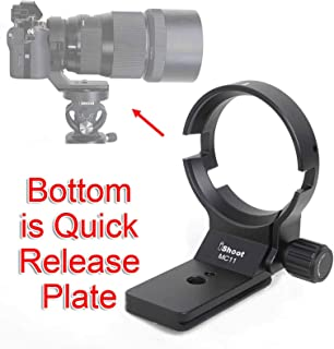 iShoot - Anillo de soporte para trípode de montura de lente de metal para Sigma MC-11 adaptador de lente de montura Canon EF-E diámetro de 615 mm con placa de liberación rápida de ajuste Arca Swiss