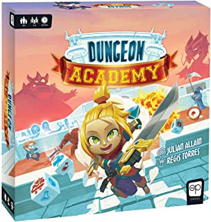 Dungeon Academy | Roll & Write Maze Board Game | Each Roll Creates Unique Dungeon Mazes | Collect Life Points & Mana, Fight Monsters, and Earn Treasure to Master The Academy | Family Board Game
