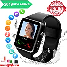 Android Smart Watch for Women Men, 2019 Bluetooth Smartwatch Smart Watches Touchscreen with Camera, Cell Phone Watch with SIM Card Slot Compatible Android Samsung iOS Phones XS 8 7 6 Note 8 9 Adult