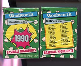 1990 Topps Baseball Card Highlights Woolworth Complete Box Set FACTORY SEALED