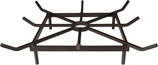 SteelFreak Square Wheel Fire Pit Grate - Made in The USA (24 x 24 Inch)