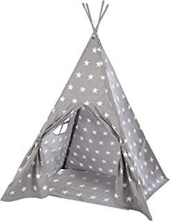 """roba Lektält""""Little Stars"""", barnlektält med golvunderlag och bärkasse, indiantält för flickor och pojkar, wigwam för barnr..."""