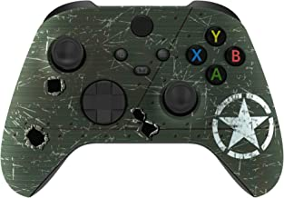 eXtremeRate WWII US Army Overlord Replacement Front Housing Shell for Xbox Series X Controller, Soft Touch Custom Cover Fa...