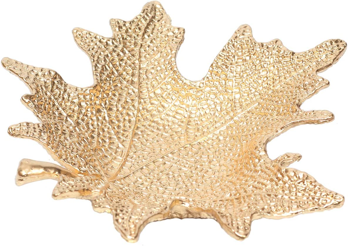 SHANA Metal Jewelry Dish Cheap Small Ring Shaped Leaf Holder Golden Our shop most popular