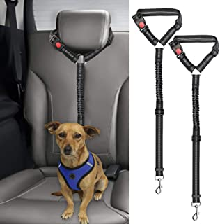 YIYUAN Dog Pet Safety Adjustable Car Seat Belt Harness Leash Travel Clip Strap Lead