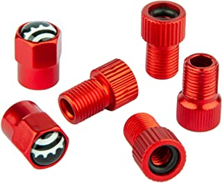 Bike Valve Adapter - Convert Presta to Schrader - French/UK to US - Inflate Tire Using Standard Pump or Air Compressor (5 Pack)