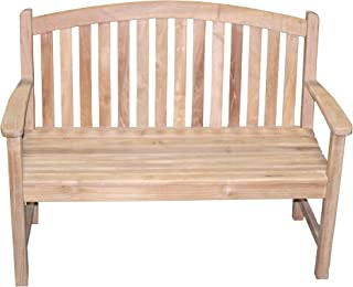 Titan Teak Bow-Back Bench for Porches, Decks, and Patios, Outdoor Furniture | 4'
