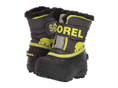 SOREL Kids Snow Commander (Toddler) (Dark Grey/Warning Yellow) Boys Shoes