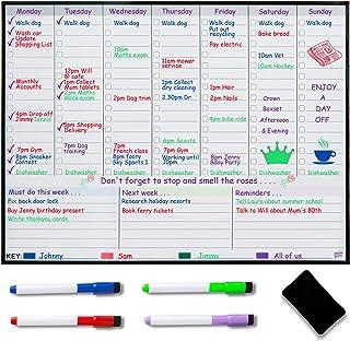 Planificador semanal magnético para nevera, planificador semanal, planificador familiar, organiza para reducir el estrés en tu vida