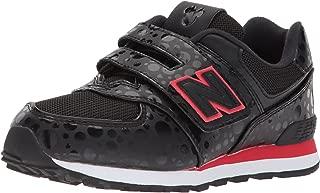 New Balance Kids' Girl's 574v1 Hook and Loop Sneaker
