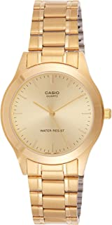 Casio Watch Set Analog Display Japanese Quartz Mtp/Ltp-1128N-9A, Gold Band, For Unisex