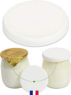 Monboco | Lot de 30 Couvercles universels pour Pots de Yaourt | diamètre 56 mm | Fabrication française | Compatible la lai...