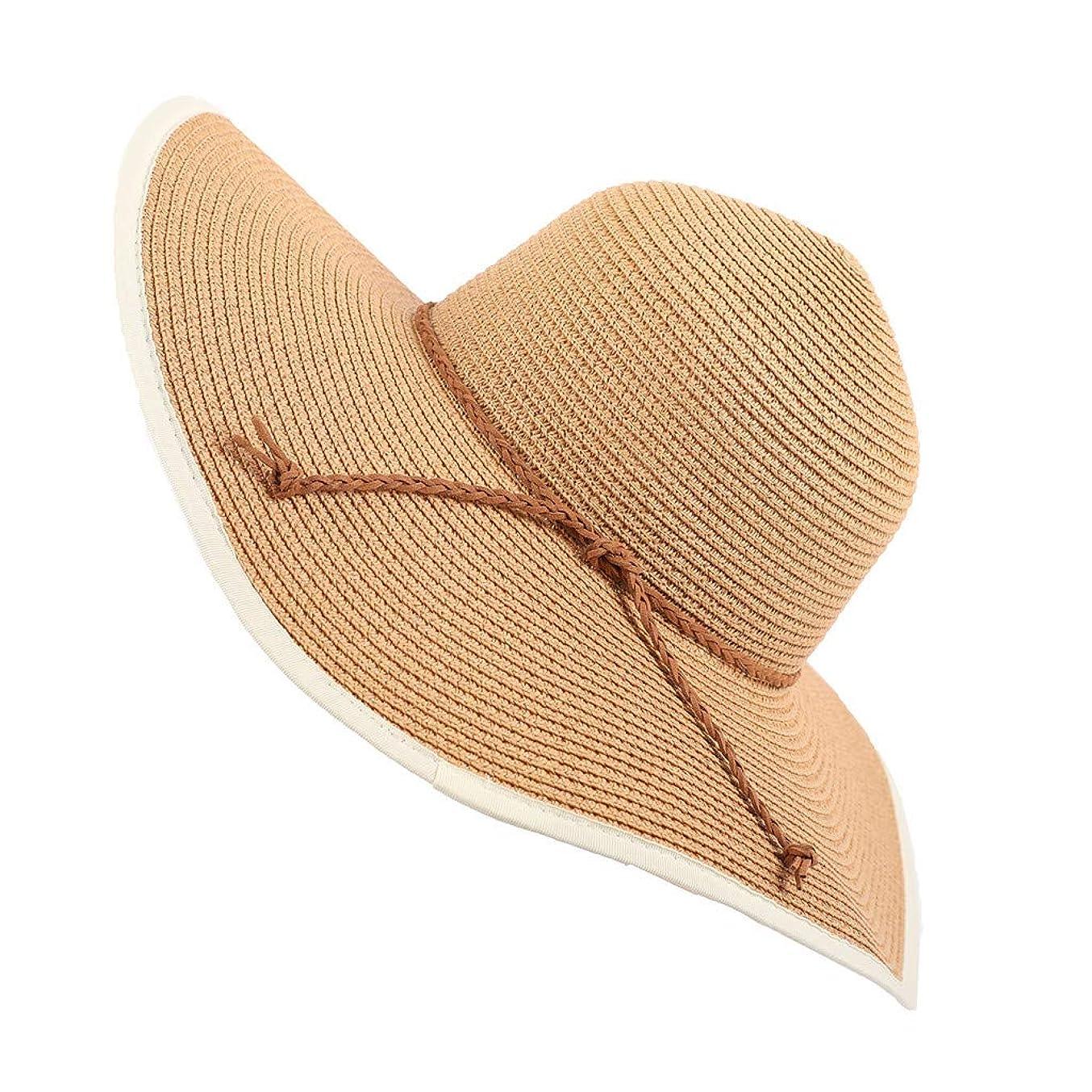 しないでくださいイブ代数UVカット 帽子 UV帽子 紫外線対策 通気性 ビーチ ハット 帽子 レディース 取り外すあご紐 サイズ調節可 つば広 おしゃれ 可愛い ハット 旅行用 日よけ 夏季 女優帽 小顔効果抜群 海辺 ワイルド パーティーROSE ROMAN