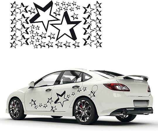 Wandtattoo Autotattoo Autoaufkleber Auto Stern Sterne 33 Teile Sticker Aufkleber