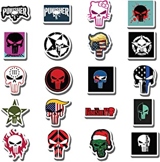 Graffiti Sticker Magnet Punisher Skull Skeleton Car Bumper Skateboard Decals Magnets Stickers