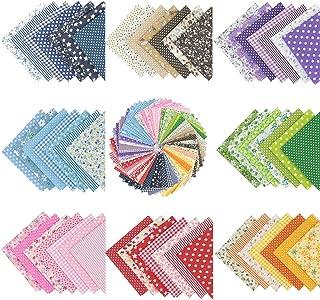 56 piezas de 25 cm x 25 cm de tela de algodón con estampado floral, para costura, manualidades, álbumes de recortes y manualidades