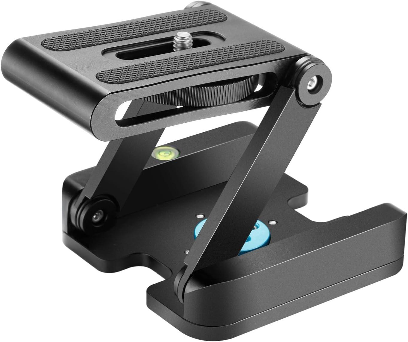Neewer Z Flex Tilt Cabeza de Bola con Placa Quick Shoe QR Soporte para cámara aleación de Aluminio con Nivel de Burbuja para Videocámara Canon Nikon Sony Trípode guía A Deslizamiento