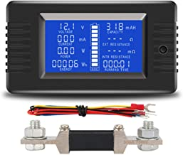 AUTENS DC Battery Monitor Meter with LCD Display,0-200V 0-300A Voltage Current Power Energy Impedance Resistance Capacity ...