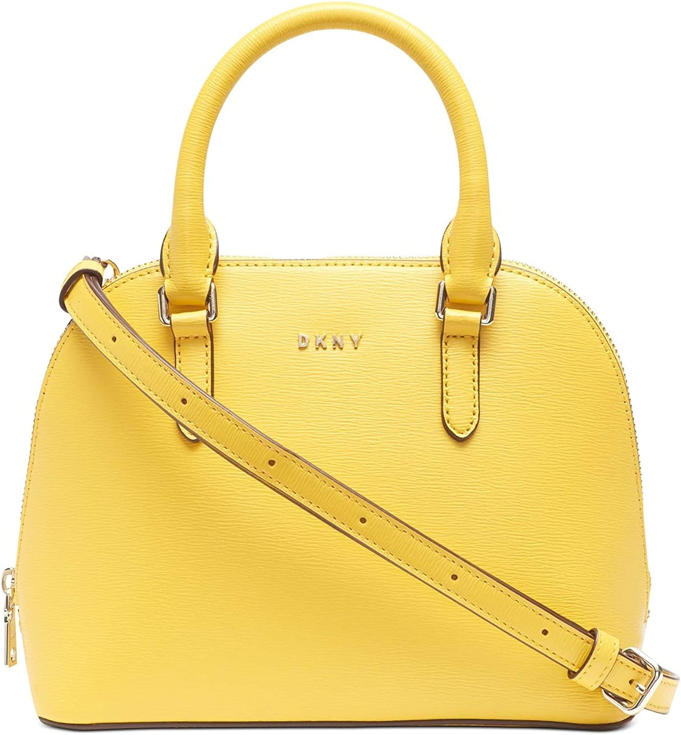DKNY Bryant High quality new Small Dome Brand new Leather - Sun Crossbody Satchel Yellow