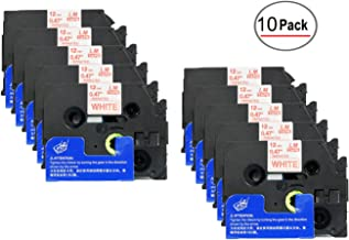 10/Pack Compatible with Brother TZe232 1/2