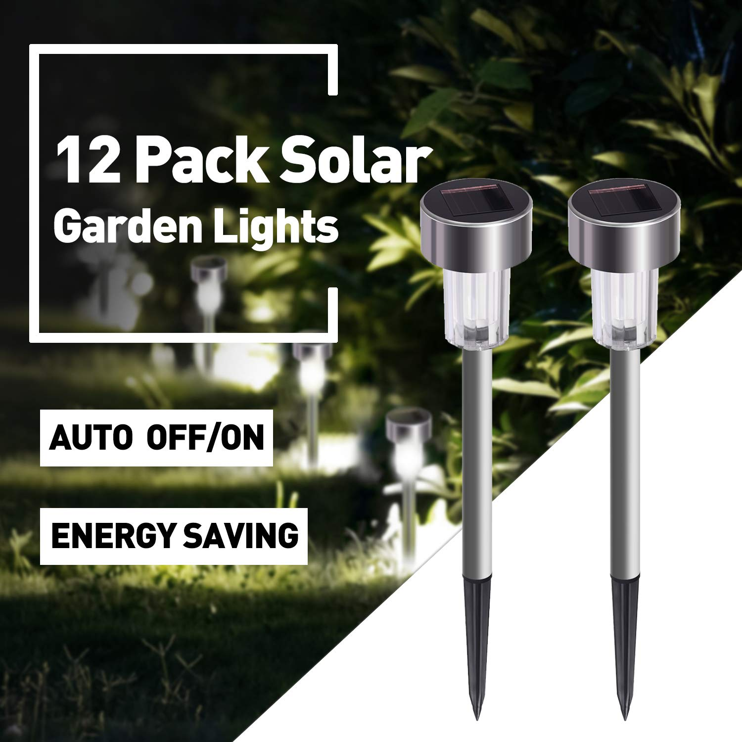 Solar Lights Outdoor 12Pack Waterproof