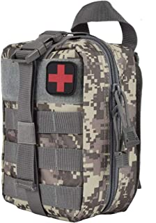 FOOKU Tactical MOLLE EMT Pouch Rip-Away IFAK Medical First Aid kit Compact Utility Pouch Outdoor Survival