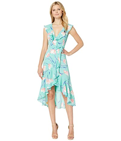 Donna Morgan Sleeveless Crepe Dress (Glacier Mint/Azure Blue Mint) Women