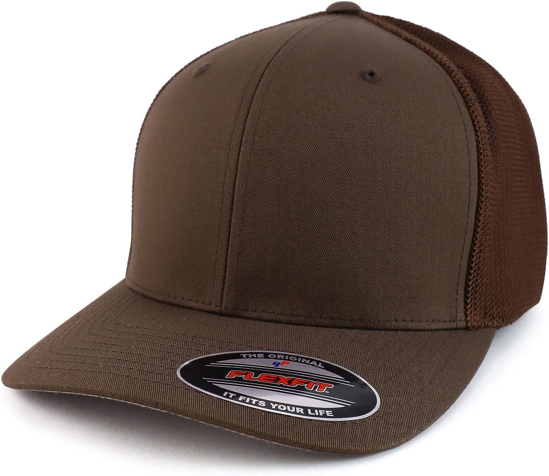 Trendy Apparel Shop 2XL Structured Flex Fitted Trucker Flexfit Baseball Cap