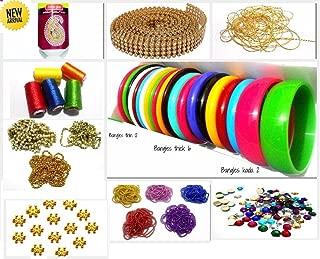 GOELX Silk Thread Bangle Making Fully Loaded Designing Box - Includes Bangle Set (Size 2.6)