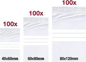 Bolsas de pl/ástico con cierre de cremallera 15 x 22 cm 100 unidades Zeen