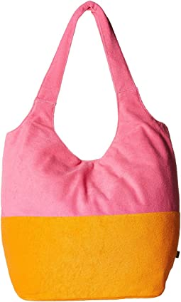 Color Blocked Terry Slouch Hobo