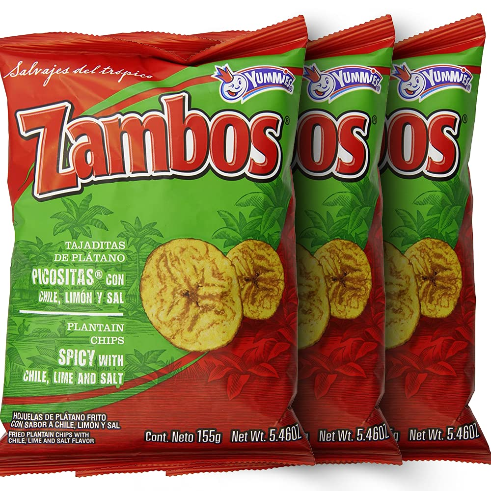 Zambos Plantain Chips: OFFicial site Spicy with and Lime Tajaditas Salt NEW before selling ☆ Chili