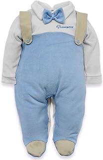 Tutina neonato con nome ricamato personalizzabile per bimbo da ordinare in ciniglia o jersey di puro cotone